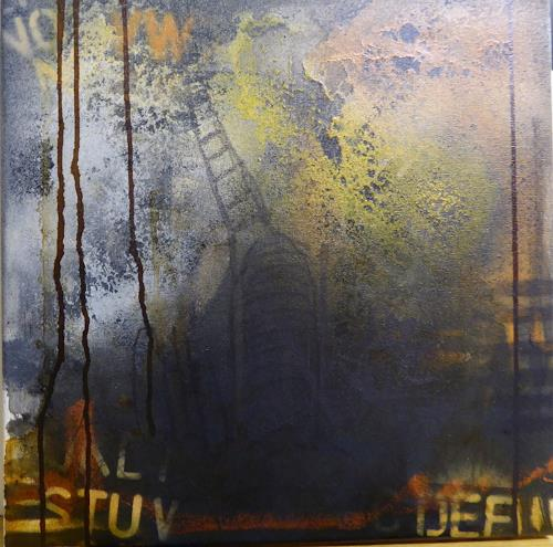 Brigitte Heck, Netzwerk II, Fantasie, Gesellschaft, Gegenwartskunst