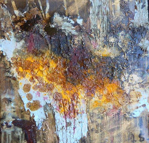 Brigitte Heck, Yaiza, Landschaft: Berge, Mythologie, Informel, Abstrakter Expressionismus
