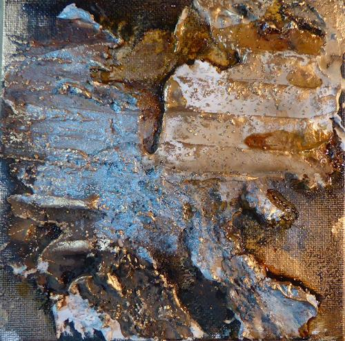 Brigitte Heck, Salinas de Janubio, Landschaft: Berge, Mythologie, Informel, Expressionismus