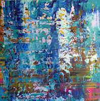 Brigitte-Heck-Natur-Wasser-Abstraktes-Moderne-Abstrakte-Kunst-Informel