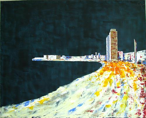 Gemma Aeschlimann, bcn3, Landschaft: Strand, Bauten: Hochhaus, Abstrakter Expressionismus