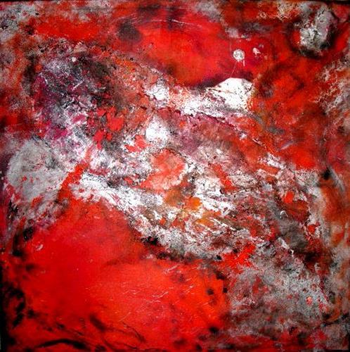 Silke Brandenstein, heat rush, Bewegung, Natur: Feuer, Abstrakter Expressionismus