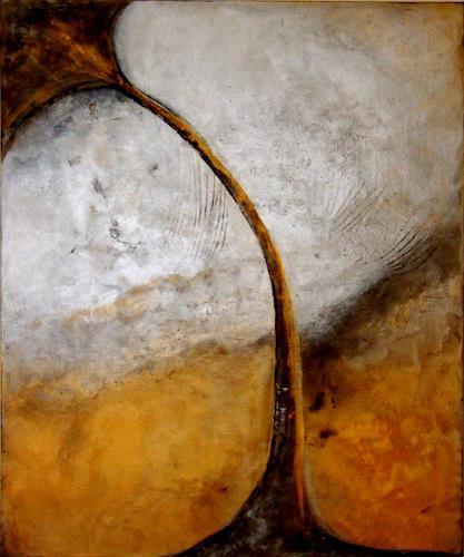 Silke Brandenstein, Lebensgold, Glauben, Symbol, Abstrakter Expressionismus