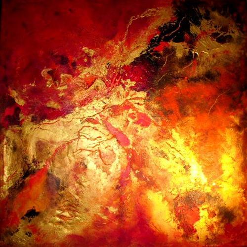 Silke Brandenstein, red passion, Symbol, Bewegung, Abstrakter Expressionismus