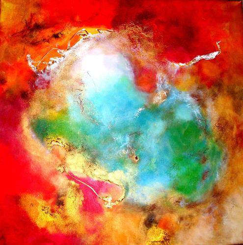 Silke Brandenstein, Königin Erde, Symbol, Natur: Diverse, Abstrakter Expressionismus, Expressionismus