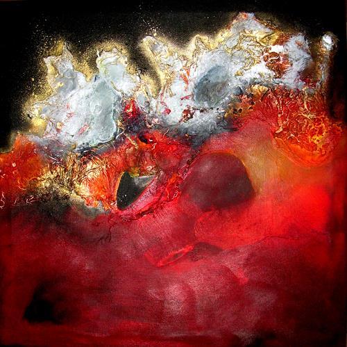 Silke Brandenstein, Krieger des Lichts, Fantasie, Abstrakter Expressionismus, Expressionismus