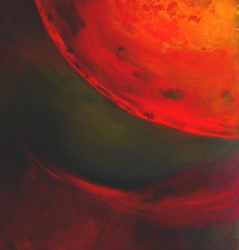 Silke Brandenstein, für immer..., Fantasie, Weltraum: Gestirne, Abstrakter Expressionismus