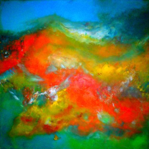 Silke Brandenstein, summer feeling, Fantasie, Abstrakter Expressionismus