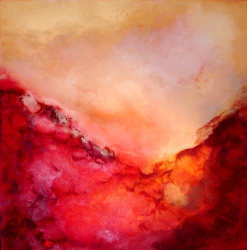 Silke Brandenstein, Feuer im Herzen, Gefühle: Liebe, Fantasie, Abstrakter Expressionismus, Expressionismus, Moderne