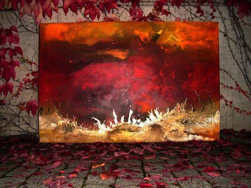 Silke Brandenstein, Feueratem nature, Natur: Feuer, Natur: Erde, Abstrakter Expressionismus, Expressionismus