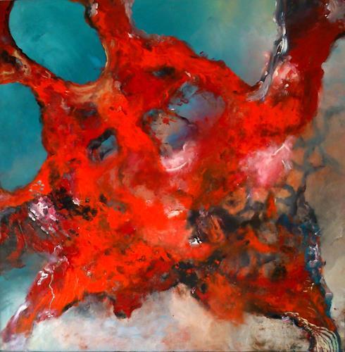 Silke Brandenstein, red coral, Fantasie, Abstrakter Expressionismus, Expressionismus, Moderne