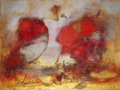 Silke Brandenstein, Glaube Liebe Hoffnung, Symbol, Abstraktes, Abstrakter Expressionismus, Expressionismus