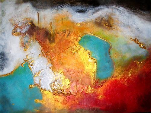 Silke Brandenstein, Conquest of Paradise, Natur: Erde, Fantasie, Abstrakter Expressionismus, Expressionismus