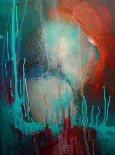 Silke Brandenstein, Seelenleuchten, Symbol, Fantasie, Abstrakter Expressionismus