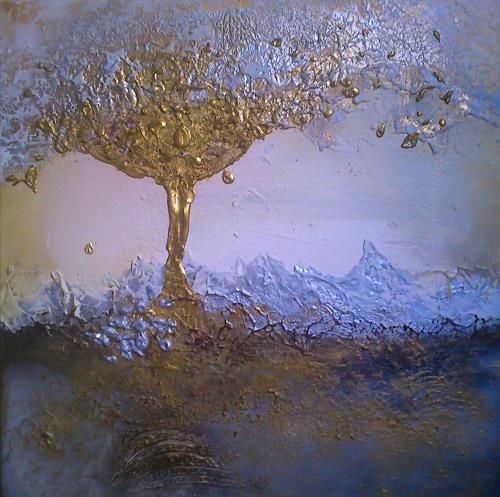 Silke Brandenstein, Die Saat geht auf..., Symbol, Glauben, Abstrakter Expressionismus, Expressionismus