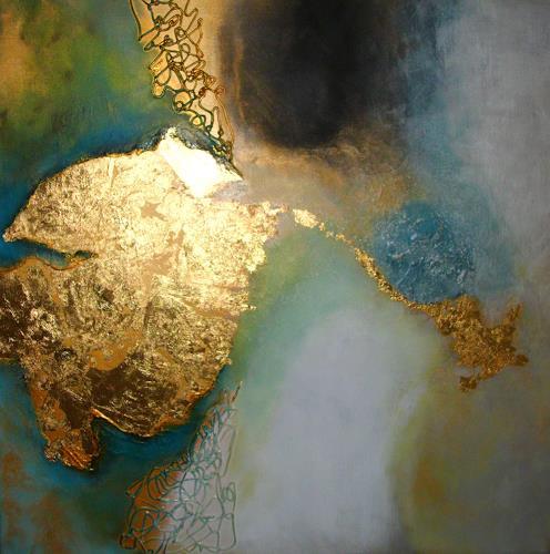 Silke Brandenstein, Dich hat der Himmel geschickt..., Glauben, Fantasie, Abstrakter Expressionismus, Expressionismus