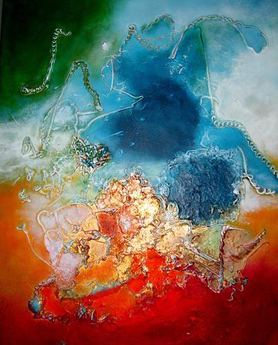 Silke Brandenstein, Die Welt mit Kinderaugen sehen, Fantasie, Abstrakter Expressionismus, Expressionismus