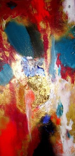 Silke Brandenstein, NachtGold Version II, Fantasie, Bewegung, Abstrakter Expressionismus