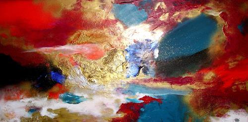 Silke Brandenstein, NachtGold, Glauben, Bewegung, Abstrakter Expressionismus