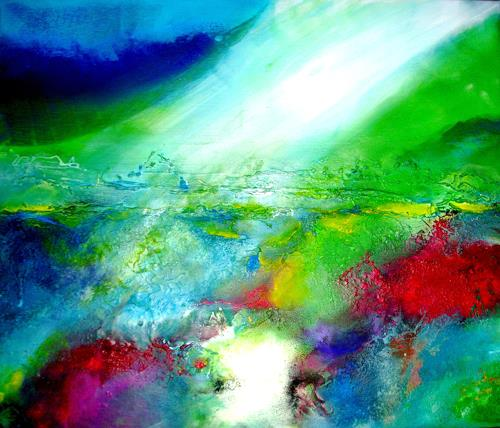 Silke Brandenstein, Auf dem richtigen Weg, Fantasie, Abstrakter Expressionismus