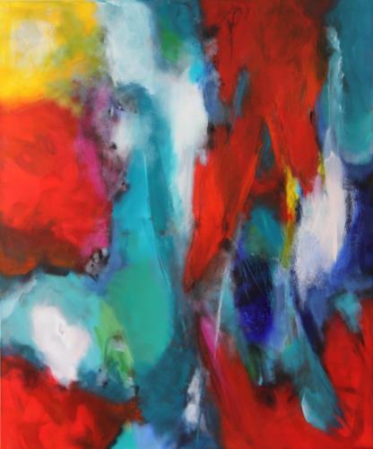 Silke Brandenstein, Escape, Fantasie, Bewegung, Abstrakter Expressionismus