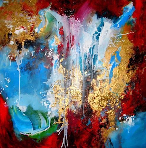 Silke Brandenstein, Stimme des Meeres, Fantasie, Action Painting, Expressionismus