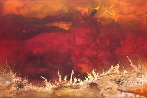 Silke Brandenstein, Feueratem, Natur: Feuer, Natur: Erde, Abstrakter Expressionismus, Expressionismus