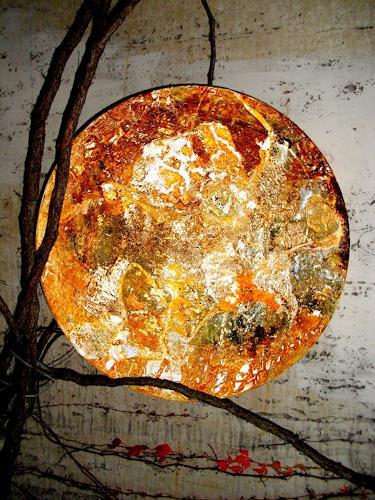 Silke Brandenstein, Heimleuchten, Gefühle: Geborgenheit, Gefühle: Liebe, Abstrakte Kunst, Abstrakter Expressionismus