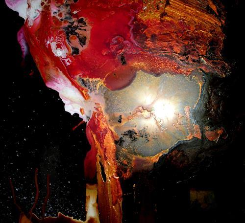 Silke Brandenstein, Wach auf Dornröschen Bildausschnitt II, Fantasie, Abstrakter Expressionismus