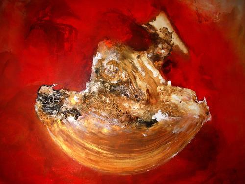 Silke Brandenstein, Manchmal wünsch ich mir... Bildausschnitt, Gefühle: Geborgenheit, Abstrakter Expressionismus