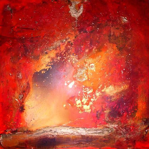 Silke Brandenstein, Intense, Gefühle: Liebe, Natur: Feuer, Abstrakter Expressionismus, Expressionismus