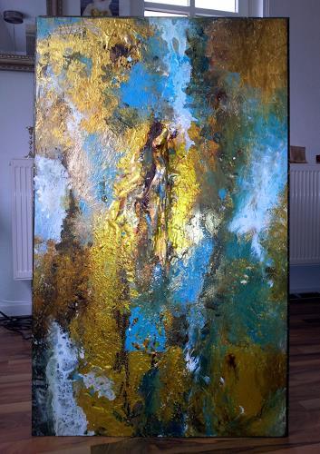 Silke Brandenstein, BELIEVE IN GOLD, Glauben, Fantasie, Abstrakter Expressionismus