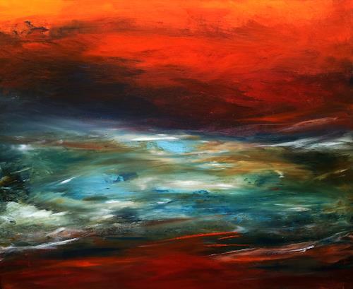 Silke Brandenstein, Herz der Erde, Natur: Erde, Natur: Wasser, Abstrakter Expressionismus