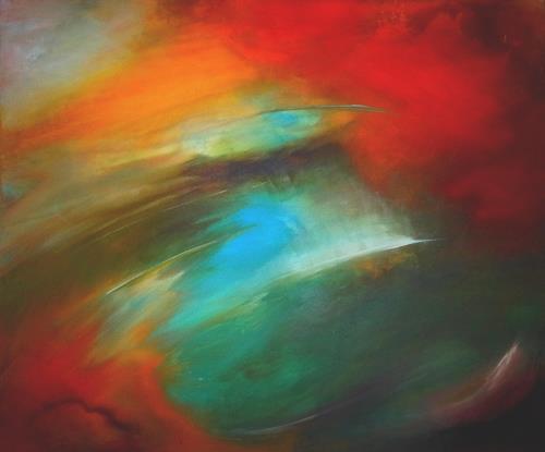 Silke Brandenstein, Das Streben nach Glück, Fantasie, Symbol, Abstrakter Expressionismus