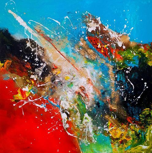 Silke Brandenstein, FREIDREHEN, Symbol, Action Painting, Abstrakter Expressionismus