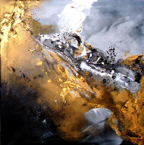Silke Brandenstein, Golden Galaxy, Weltraum, Fantasie, Abstrakter Expressionismus