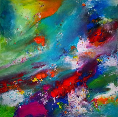Silke Brandenstein, Überall ist Wunderland, überall ist Leben, Fantasie, Abstrakter Expressionismus