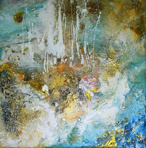 Silke Brandenstein, Fels in der Brandung, Bewegung, Symbol, Abstrakte Kunst