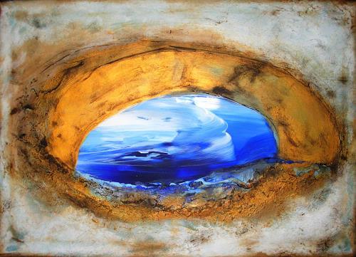 Silke Brandenstein, deep blue, Glauben, Natur: Wasser, Abstrakte Kunst, Expressionismus