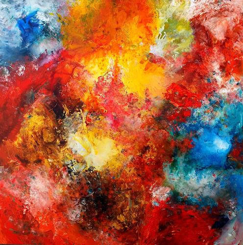 Silke Brandenstein, Om Namah Shivaya, Symbol, Glauben, Abstrakter Expressionismus