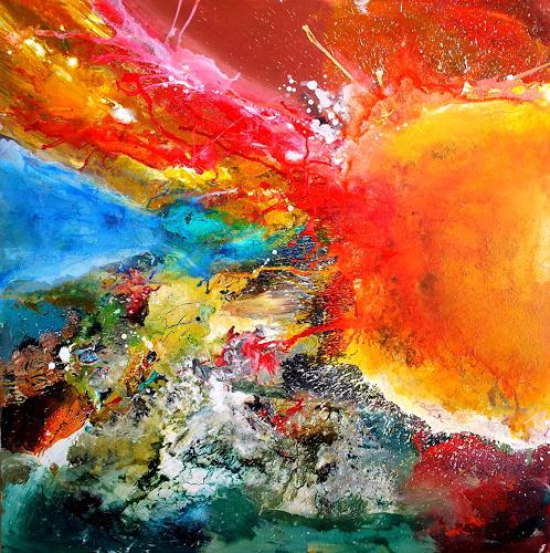 Silke Brandenstein, Sonnenseele, Glauben, Symbol, Abstrakte Kunst, Abstrakter Expressionismus