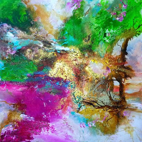 Silke Brandenstein, PARADISO, Symbol, Gefühle: Freude, Abstrakter Expressionismus, Expressionismus