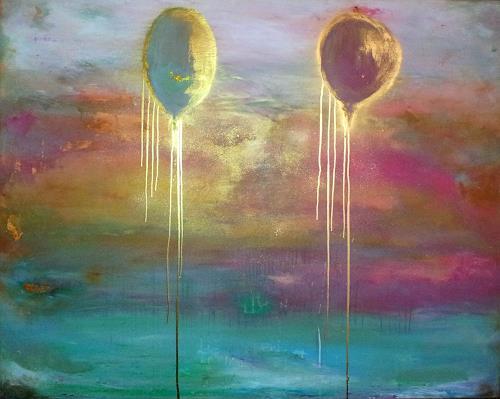 Silke Brandenstein, Rosarot und Himmelblau, Fantasie, Gefühle: Liebe, Symbolismus, Expressionismus