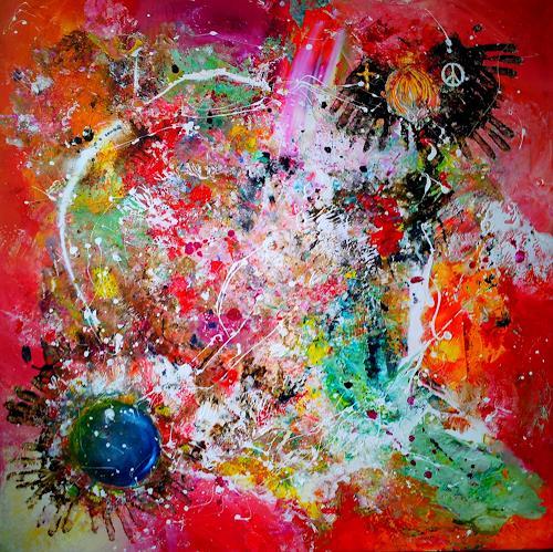 Silke Brandenstein, WE ARE ONE, Symbol, Glauben, Action Painting, Abstrakter Expressionismus