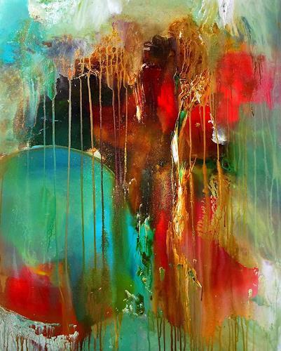 Silke Brandenstein, Goldregen, Symbol, Natur: Erde, Abstrakte Kunst, Expressionismus
