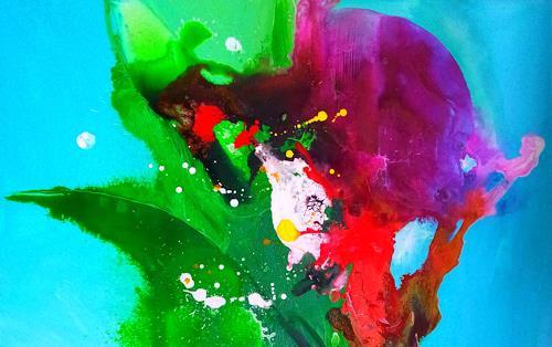 Silke Brandenstein, Freier Geist Detailansicht I, Fantasie, Symbol, Abstrakte Kunst, Abstrakter Expressionismus