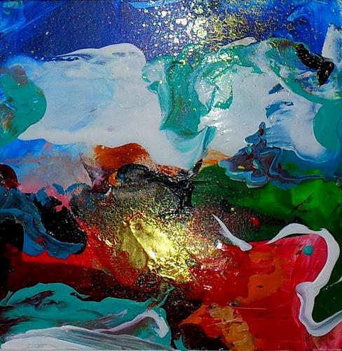Silke Brandenstein, Verzaubert..., Fantasie, Märchen, Abstrakter Expressionismus