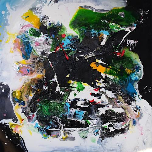 Silke Brandenstein, ZEITREISE, Weltraum, Fantasie, Abstrakte Kunst