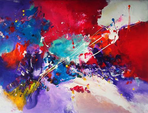 Silke Brandenstein, Lebensstrom, Symbol, Action Painting, Abstrakter Expressionismus