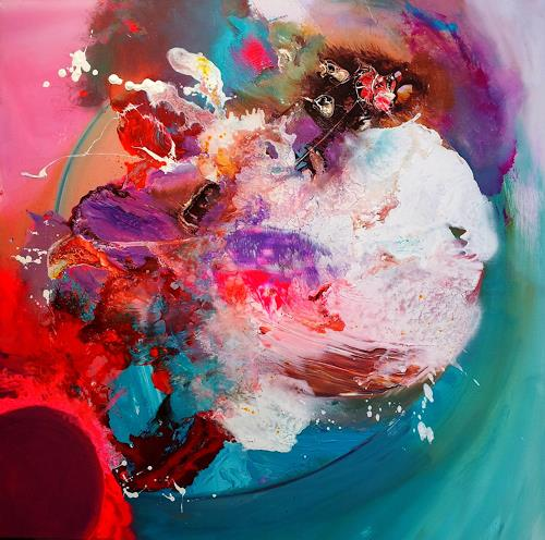 Silke Brandenstein, Günstige Umstände, Bewegung, Diverse Weltraum, Abstrakter Expressionismus, Expressionismus, Moderne